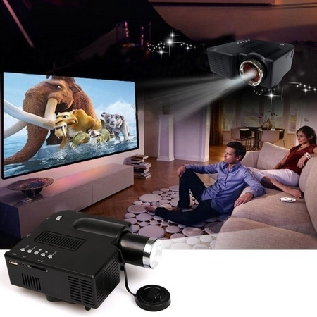 Picture of Mini Projector Multimedia Led Tv Vga Hdmi Usb For Home Theater Cinema