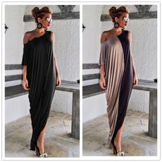 loose backless dress