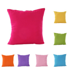 New Pure Color Square Pillow Cover Suede Nap Throw Pillow Case home decoration