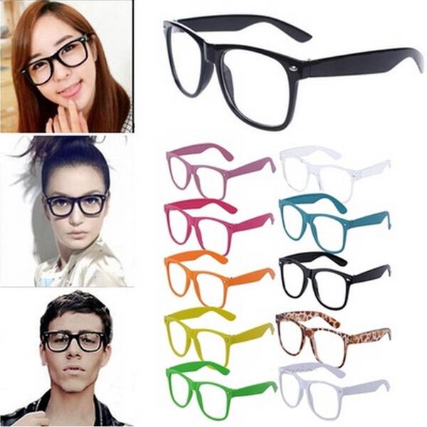 Picture of Fashion Retro Glasses Colorful Frame Glasses Clear Lenses Plain Mirror Glasses