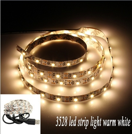 USB LED Strip 3528 100cm White Warm White Blue RGB LED Tape DC5V TV Background Lighting DIY Decorative Lamp