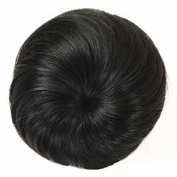 Wish Bun Clip In On Hairpiece Extensions Updo Scrunchie Brown