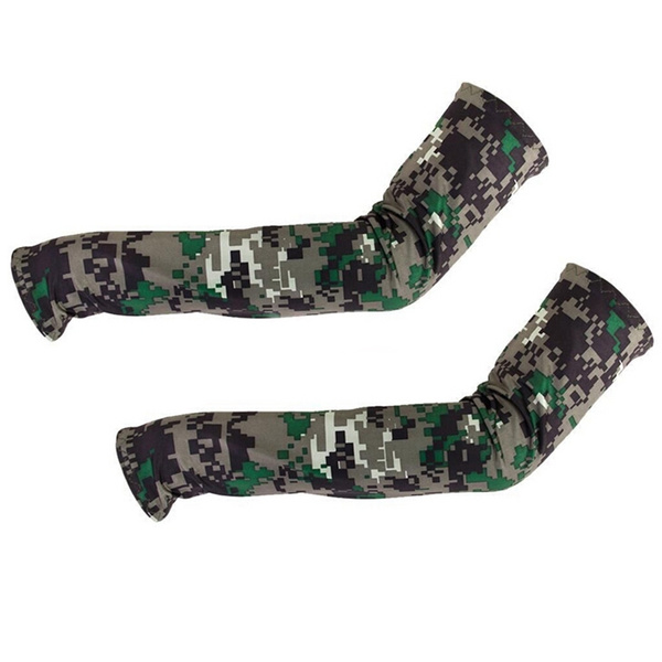 Camouflage Cooling Arm Sleeves Sun UV Protection Cover Golf Cycling Bike Sports Fantanstic