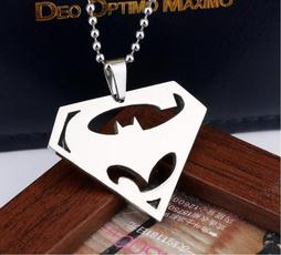 Steel, Chain Necklace, supermannecklace, Superman