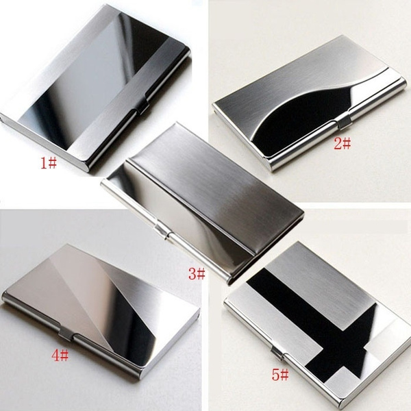 Picture of Stainless Steel Silver Aluminium Business Id Credit Card Holder Case Cover