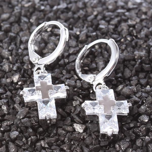 danglehoop, crossearring, Dangle Earring, Jewelry