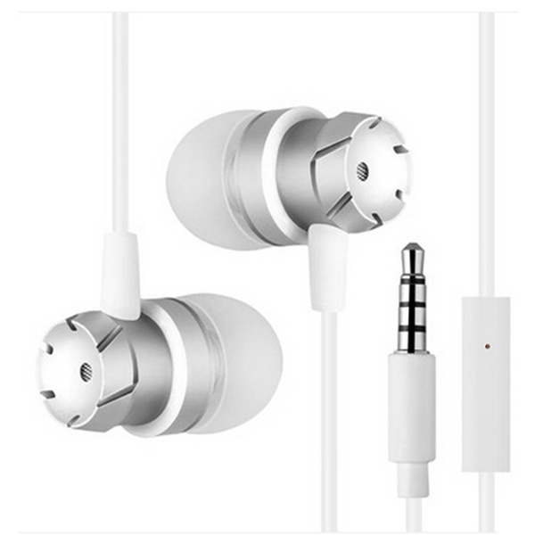 In-Ear Supper Bass Metal Earbuds Earphone Headphone Microphone 3.5mm