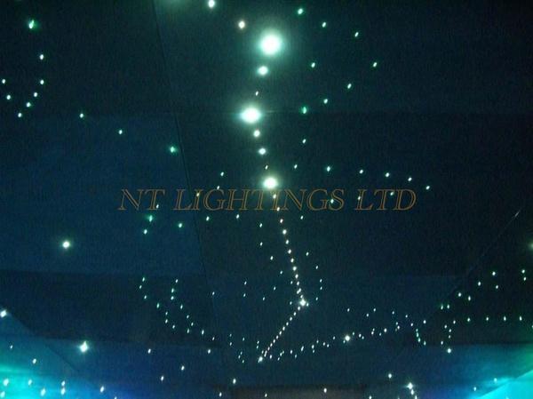 wish modern home decoration fiber optic lights color change stars