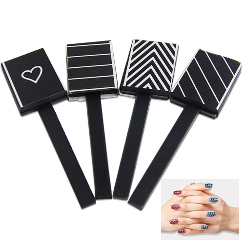 Wish 4 Pcs Patterns Magnetic Nail Art Magnet Rods For Use With