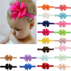 20 Pcs/lot Kids Elastic Hair Bands with Bow Baby Toddler Hair Accessories luky485