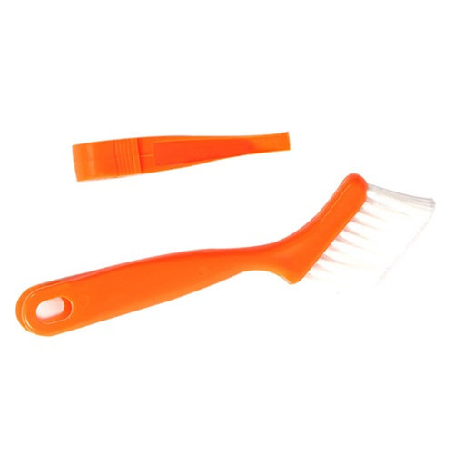 New Design 2 In 1 Multipurpose Window Track Cleaning Brush Keyboard Nook Cranny Dust Shovel (Size: One Size)