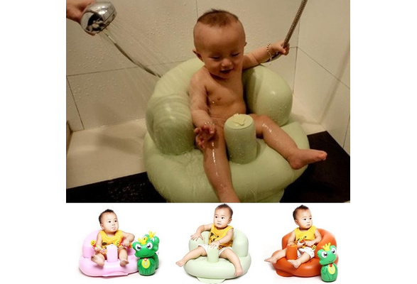 Wish | Baby Bath Seat Dining Chair Portable Inflatable Aerated Sofa ...