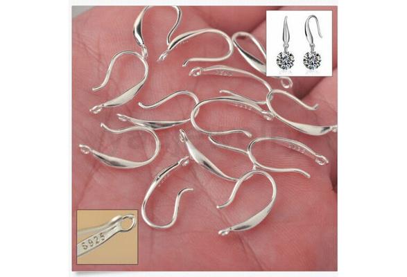 Hot Hook Earwire 925 sterling silver Earring Jewelry Findings Handmade DIY 10pcs