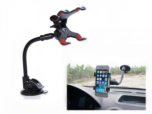 Universal Car Mobile Phone Holder Stand Rotating 360 Degree Long Arm Cellphone Bracket Cell Phone Mount For GPS Mp4
