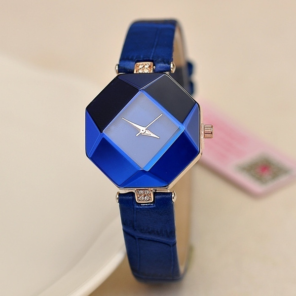 1 Pc Elegant Women Fashion Rhinestone Watch Irregular Case Jewelry Quartz Watch Gifts