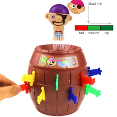 Christmas Gift Kids Children Funny Lucky Stab Pop Up Toy Gadget Pirate Barrel Game Toy