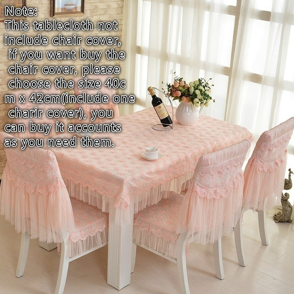 Wish | Fashion Dining Table Cloth Chair Covers Cushion Tablecloth Dining  Table Chair Cover Table Bundle Cushion Lace Embroidered