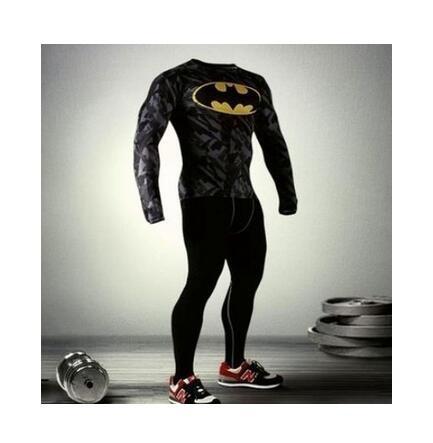 bf5bdcd4cc96d Men Marvel Batman Compression Armour Shirt Tights Men Thermal Under ...