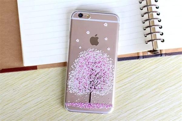Picture of Sakura Pattern Case Cover For Iphone 5 5s/ 6 6s /6 Plus 6s Plus/ 7 / 7 Plus
