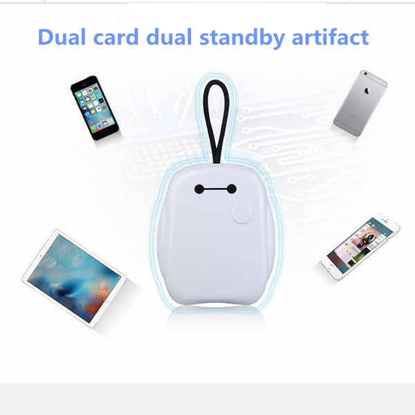 Bluetooth Dual SIM Adapter for iPhone for ipad Portable Mate One Phone Two  Sim Cards Portable Dual SIM Cards Double Adapter Bluetooth 4 0 APP phone