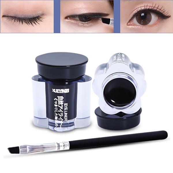 Picture of New Professional Waterproof Black Color Eye Liner Eyeliner Gel Makeup Cosmetic + Brush Set