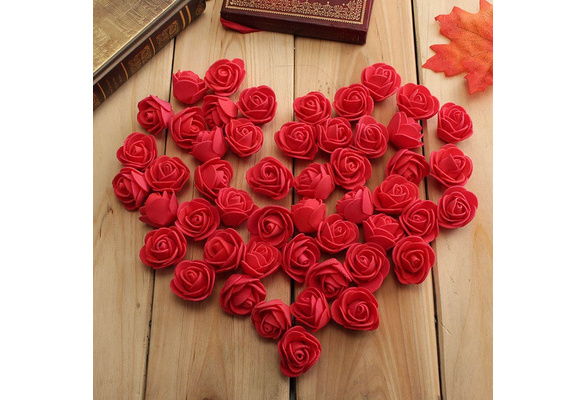 50 PCS Foam Roses Artificial Flower Wedding Bride Bouquet Party Decor DIY D?coration de mariage