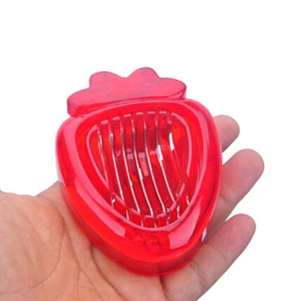 1PCS New Strawberry Slicer Kitchens Cooking Gadgets Accessories Supplies Fruit Carving Tools Salad Cutter