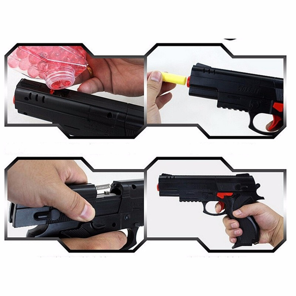 Wish | Pump Pistol Nerf airsoft.gun Airgun Soft Bullet Gun Paintball Pistol  Toy CS Game Shooting Water Crystal Gun