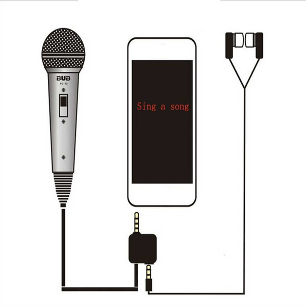 Picture of Mini Pocket Microphone Cell Phone Karaoke Player For Any Cell Phone Pc Home Ktv Recorder