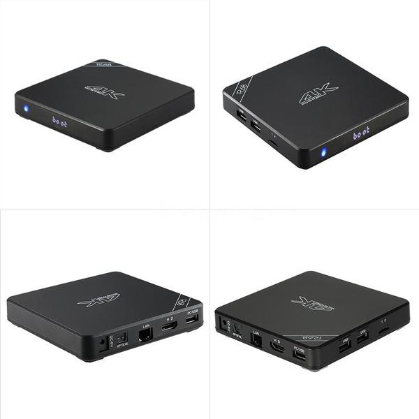 R68 Android 5 1 Smart TV Box RK3368 64 Bits Octa Core 2GB/16GB 4K*2K Mini  PC 2 4G/5G Wifi //DLNA H 265 Bluetooth 4 0 w/ Remote Controller