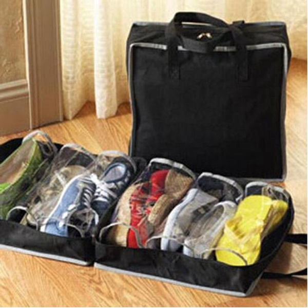 Picture of Portable Home/travel Luggage Shoes Organizer Storage Bag Zipper Dustproof Bag Case