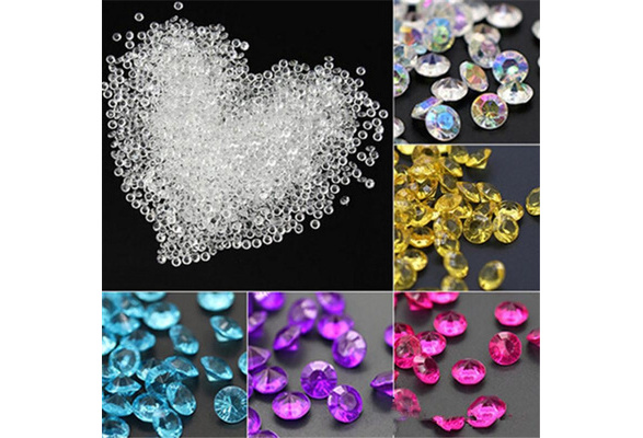 2000pcs 4.5mm Acrylic Clear Diamond Confetti Wedding Party Table Scatters Decoration Crystals Centerpiece Festive Supplies