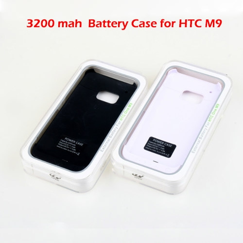 online store fc522 e71f2 New 3200mAh External Backup Battery Charger Case for HTC One M9 Power Case  Charger Power Bank for HTC One M9
