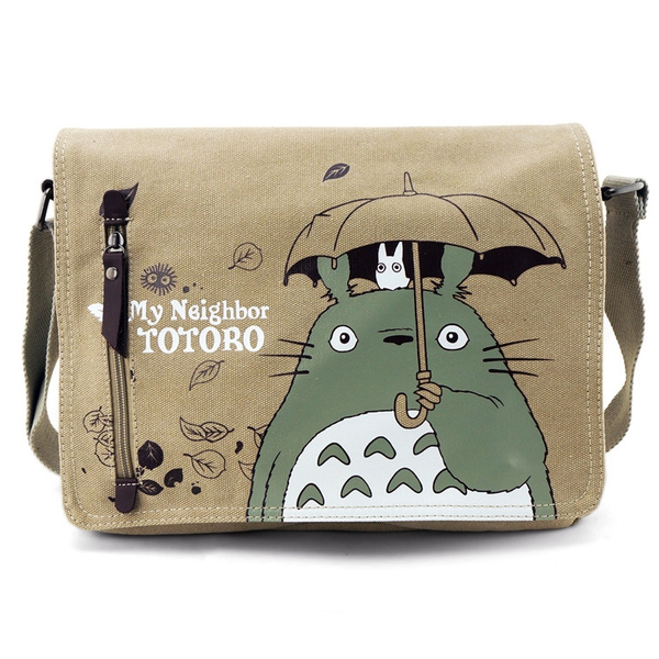 Picture of Cute Totoro Canvas Shoulder Bag My Neighbor Totoro Messenger Bags Durable Anime Bag
