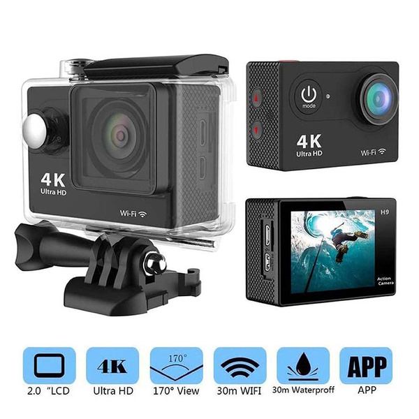 Picture of Ultra Hd 4k Cam Video 12mp 170 Degrees Wide Angle Wi-fi Sports Dv Helmet Diving 30m Waterproof Mini Camcorders