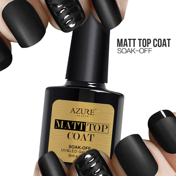 Wish | Azure Beauty 8ml Matte Top Coat Nail Gel Polish Nail Art Tips ...