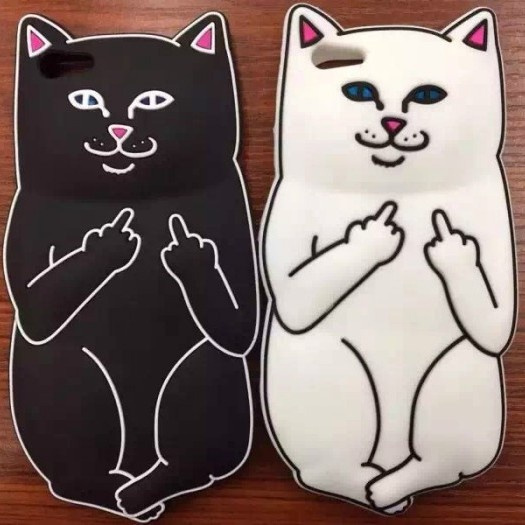 online store 5d4dd 8a9d2 3D Cartoon Ripndip Lord Nermal Pocket Cat Silicone Rubber Case For iPhone 5  5S 6 6S 6/6S Plus Cover Cases Fundas Capa Para