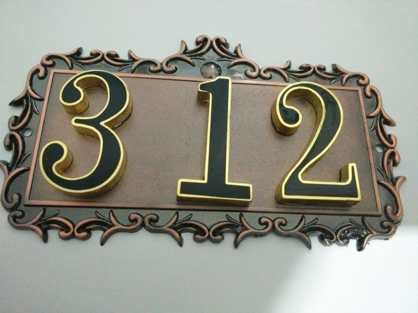 House Number/ Apartment Door Numbers/home Garden/door Plates Antique/ House Number  Plate/home/Daily Necessities/ | Wish