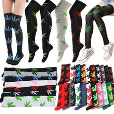Marijuana women, wintersock, Cotton Socks, leaf