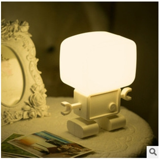 Voice Activated Lights Led Table Lamp Bedroom Lighting Night Light Energy Saving Sleep Reading Lamps Cute Bedside
