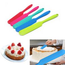 1 x Silicone Batter Spatula Cake Cream Mixer Long Handled Models Baking Scraper Random Color