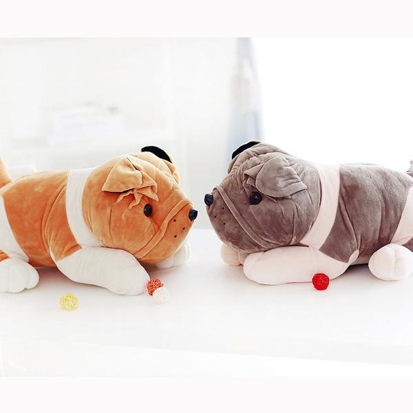 Wish Plush Doll Gosig English Bulldog Puppy Dog Brown White