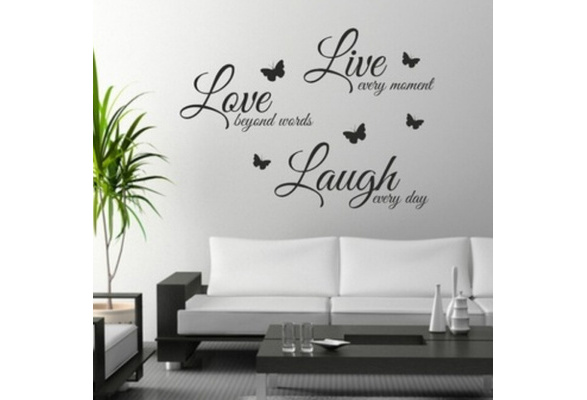 High Tech/Durable Quote Wall Art Sticker Live Love Laugh Home Vinyl Transfers Decals Graphics