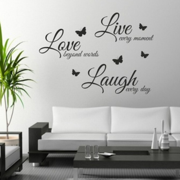 High Tech Durable Quote Wall Art Sticker Live Love Laugh Home Vinyl Transfers Decals Graphics Wish