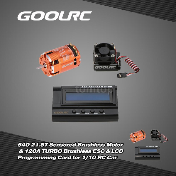 Remote Control Toys GoolRC 540 21 5T Sensored Brushless Motor & 120A TURBO  Brushless ESC with 6 1V/3A Switch Mode BEC & LCD Programming Card Combo Set