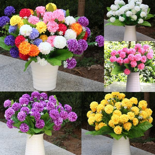 Picture of New 1 Bouquet 8 Heads Flowers Artificial Small Chrysanthemum Daisy Silk Room Garden Flower Arrangement Decoration Wiji