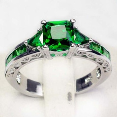 Fashion, 925 sterling silver, Jewelry, Emerald