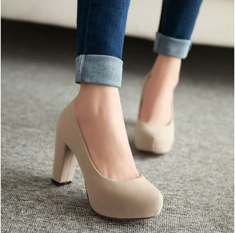 Picture of Fashion Wedding Pumps Sexy High Heel Shoes Brand Design Red Bottom Platform Women Party Shoes Big Size