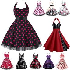 halter dress, Vintage Dresses, Halter, women dresses
