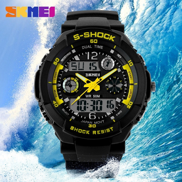 319e84b98 Herren Quarz-Digital-Uhr-Mann-Sport-Uhren Relogio Masculino SKMEI S Shock  Uhren LED Military Wasserdichte Armbanduhren | Wish